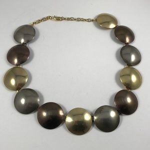 Vintage Necklace Copper Brass Silver